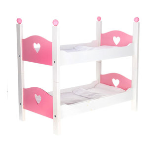 Angel Toys poppen stapelbed hout